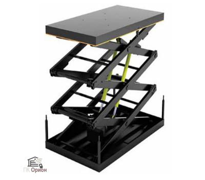 Стол подъемный с 3-мя парами ножниц 2000х1200х830 H3800 грузоподъемность 2т
