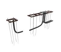 Закладные элементы для откатных ворот в комплекте монтажной пластиной и кондуктором