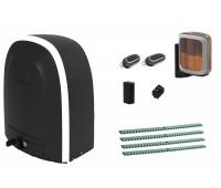 Комплект автоматики для откатных ворот ALUTECH RTO-1000KIT FULL, состав: привод, радиоприемник, 2 пульта, монтажный комплект, рейка, лампа, фотоэлементы